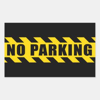 Nenhuma polícia do estacionamento arrisca listras adesivo retangular