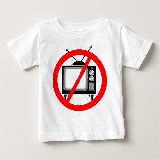 NENHUMA tevê - Camiseta Para Bebê