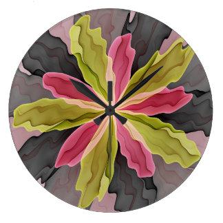 Nenhuma tristeza, alegria, arte do Fractal da flor Relógio Grande