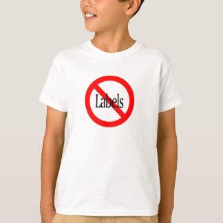 Nenhumas etiquetas tshirt