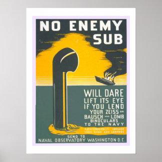 Nenhumas forças armadas secundárias inimigas do poster