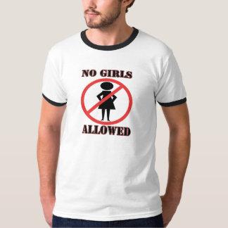 Nenhumas meninas permitidas tshirts