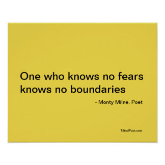 Nenhuns medos - poster da poesia