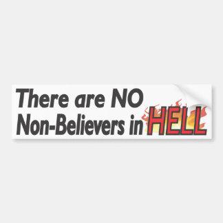 Nenhuns Não-Crentes no inferno - Bumpersticker Adesivo Para Carro