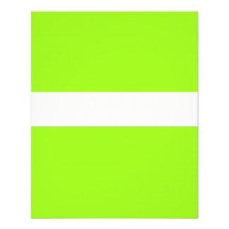 Néon chartreuse AJUSTÁVEL & insecto branco Flyer 11.43 X 14.22cm