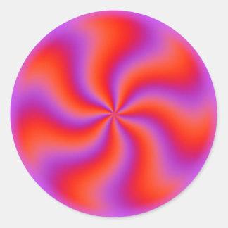 Néon engraçado espiral hipnótico da ilusão óptica adesivo