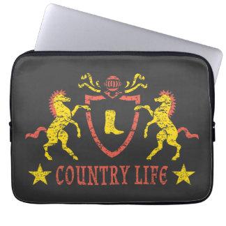 Neopreno heráldico do cavalo a bolsa de laptop de capa de computador notebook