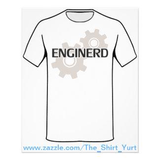 Nerd do engenheiro de Enginerd Flyer 11.43 X 14.22cm