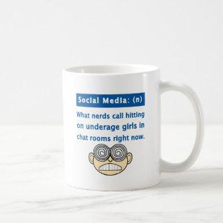 Nerd social dos meios caneca de café