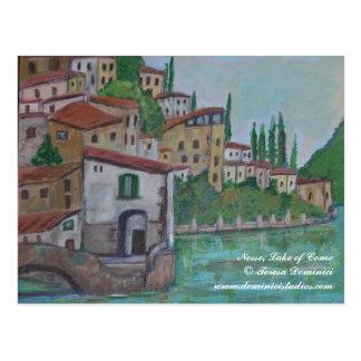 Nesso, lago de Como em Italia Cartão Postal