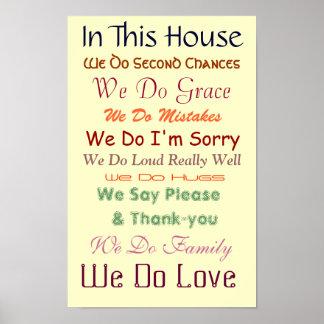 Nesta casa nós amamos o poster pôster