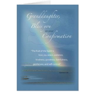 Neta, felicitações do arco-íris da confirmação cartão comemorativo
