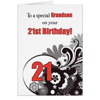Neto, redemoinhos religiosos do aniversário de 21 cartão comemorativo