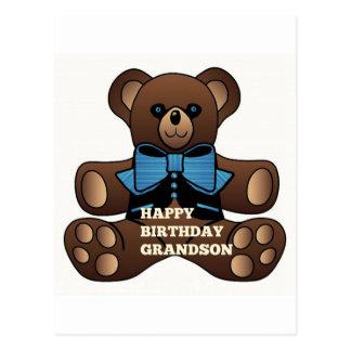 Neto Teddybear do feliz aniversario Cartão Postal