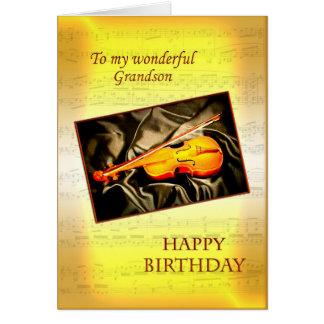Neto, um cartão de aniversário musical com um viol