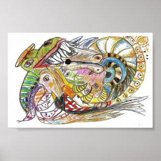 Netuno - arte abstracta poster