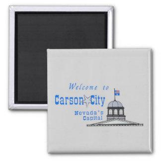NEVADA Carson City Ímã Quadrado
