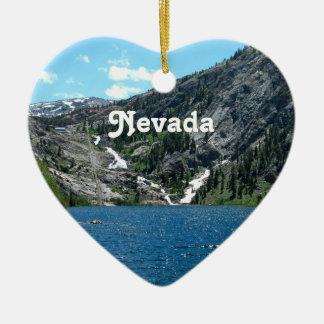 Nevada Ornamento De Cerâmica Coração