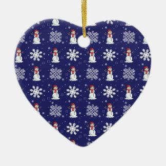 Nevado Ornamento De Cerâmica Coração