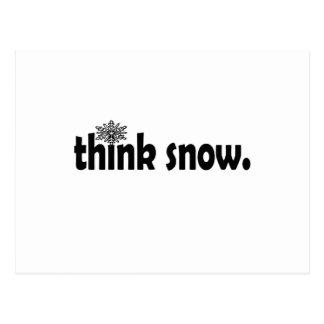 neve cartão postal