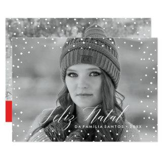 Neve faz   natal Cartão de Natal Convite 12.7 X 17.78cm
