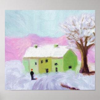 Neve na paisagem poster