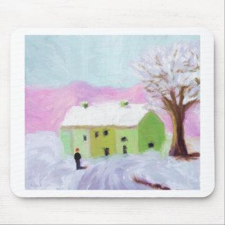 Neve na paisagem mouse pad