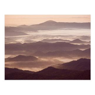 Névoa da manhã no Appalachian do sul Cartão Postal