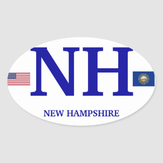 New Hampshire * etiqueta oval européia Adesivo Oval