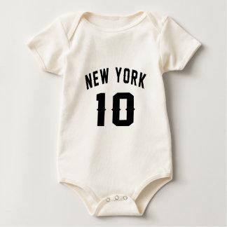 New York 10 designs do aniversário Macacãozinhos Para Bebê