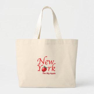 New York Apple grande Bolsa De Lona