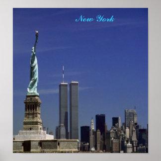 New York, em umas canvas Poster