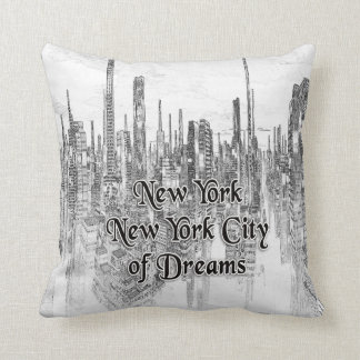 New York New York Cidade-do travesseiro decorativo Almofada