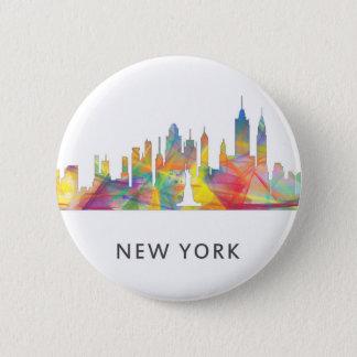 NEW YORK, SKYLINE WB1 DE NY - BÓTON REDONDO 5.08CM