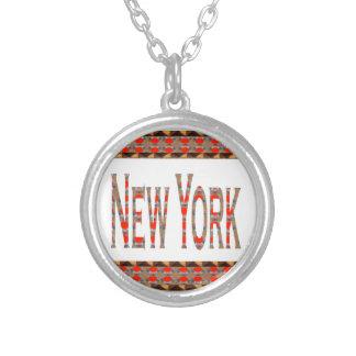 NEWYORK NY New York América LOWPRICES americano Colar Banhado A Prata