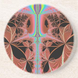 Nightgown cor-de-rosa com abstrato do laser do porta copos de arenito