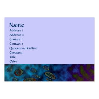 No abstrato 1 do cosmos cartão de visita grande