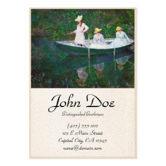 No barco norueguês em Giverny Claude Monet Cartão De Visita Grande
