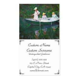 No barco norueguês em Giverny Claude Monet Modelo Cartão De Visita