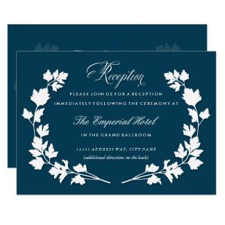 No cartão da recepção de casamento do jardim de