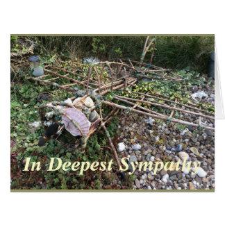 No cartão de simpatia o mais profundo (cartão
