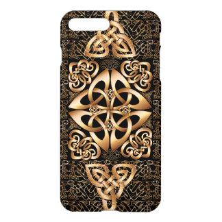Nó celta no preto capa iPhone 8 plus/ 7 plus