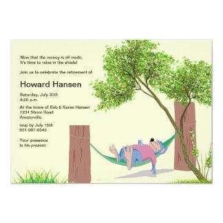 No convite de festas da aposentadoria do Hammock