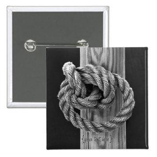 Nó da corda bóton quadrado 5.08cm