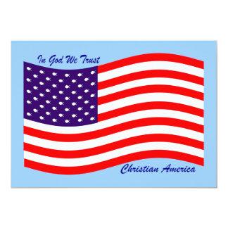 No deus nós confiamos o cristão América do ~ Convite 12.7 X 17.78cm