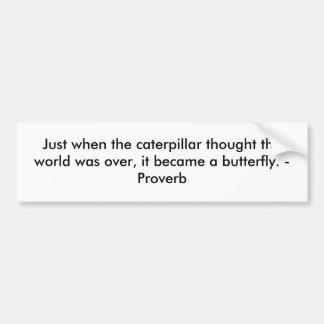 No exato momento em que a lagarta pensou o mundo e adesivo para carro