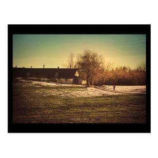 No inverno passado caminhada Cartão Cartão Postal