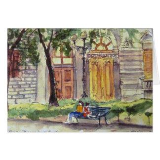 No parque, Florença Cartão Comemorativo