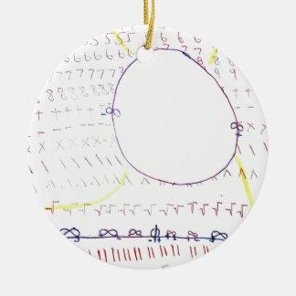 No real de formulários infinitos ornamento de cerâmica redondo