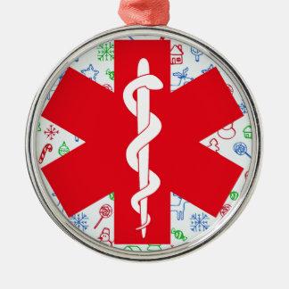 No. redondo de luxe 1 do ornamento do paramédico